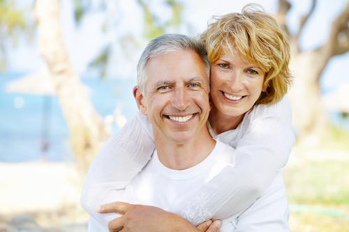 Elderly couple dental bridges
