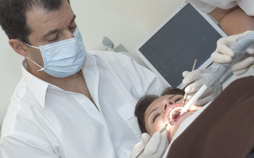 lady having a cosmetic smile makeover